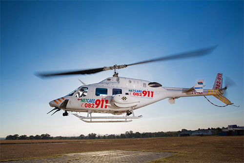 Netcare 911's helicopter emergency medical service (HEMS) recently marked the first 'birthday' of its two ICU-equipped Bell 222 UT helicopters